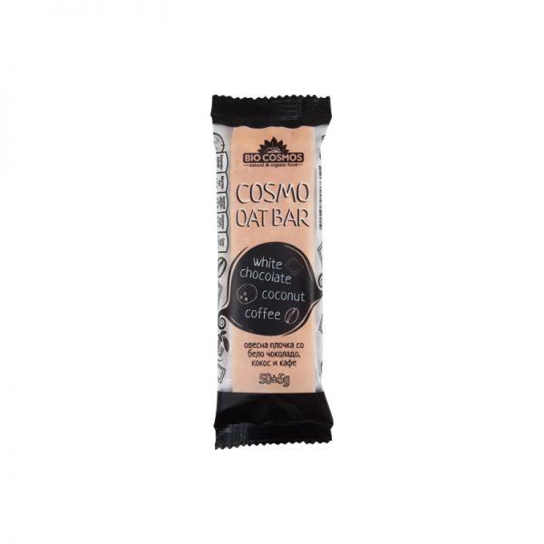 Био Космос Космо овесна плочка сo кокос, кафе и бело чоколадо 50гр