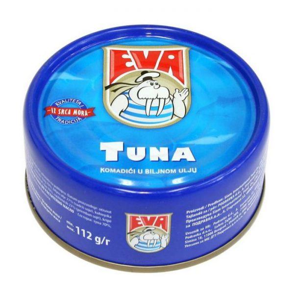 Ева туна цели парчиња 160гр