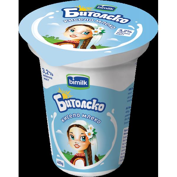 Бимилк Битолско Кравјо кисело млеко 3,2% 400гр