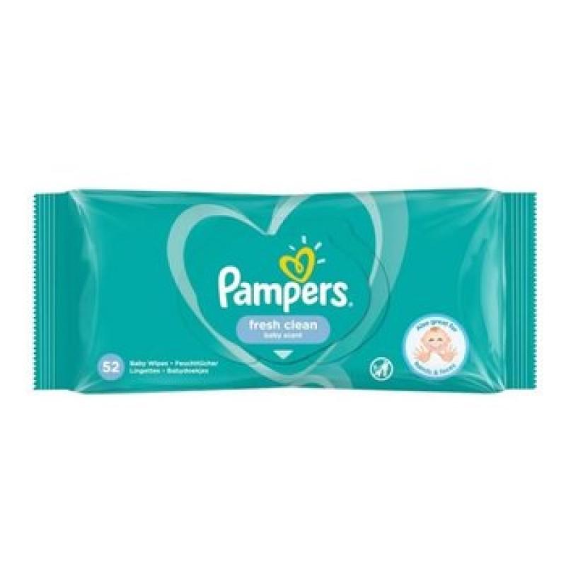Pampers Fresh влажни марамчиња за бебиња 52 парчиња